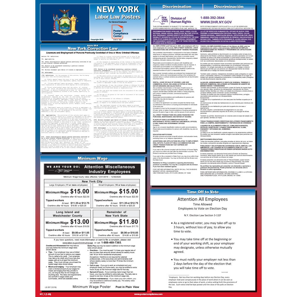 New York State Labor Law Poster