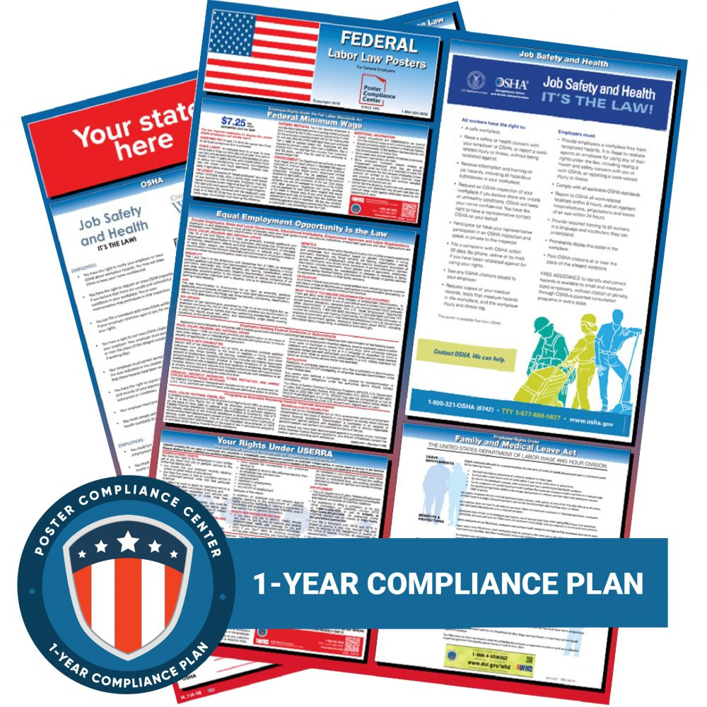 Federal and State Labor Law Posters 1 Year Plan