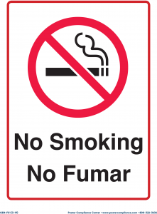 Generic No Smoking Sign - English and Spanish