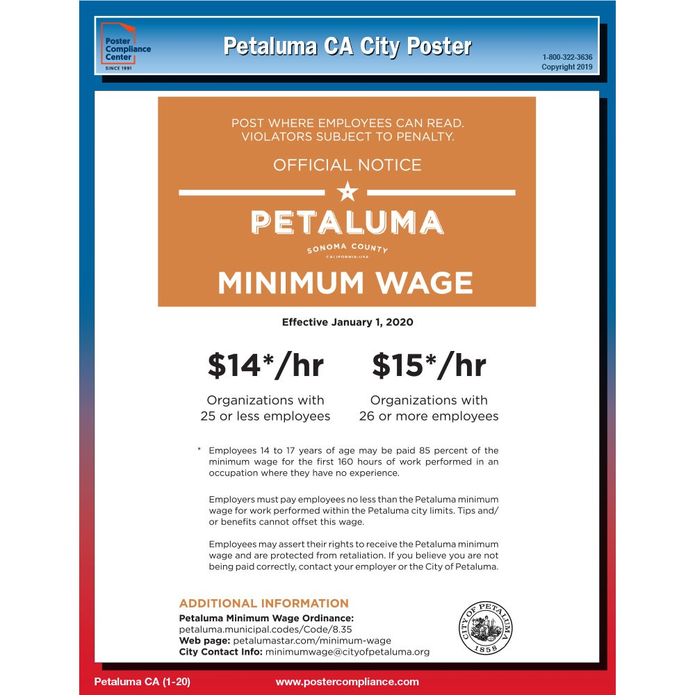 Petaluma_CA_Labor_Law_Poster